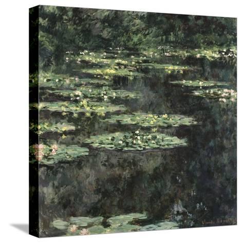 Nymphéas-Claude Monet-Stretched Canvas Print
