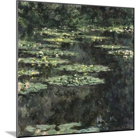 Nymphéas-Claude Monet-Mounted Giclee Print