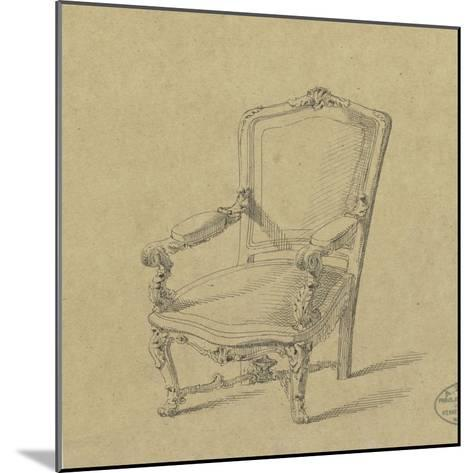 Projet de fauteuils-Antoine Zoegger-Mounted Giclee Print