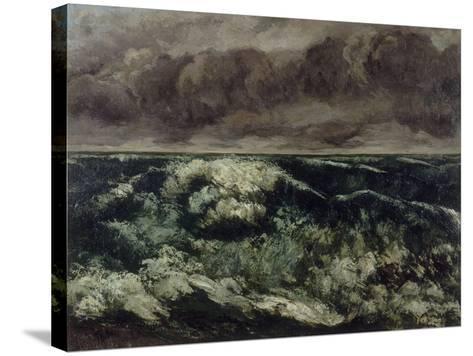 La Vague-Gustave Courbet-Stretched Canvas Print