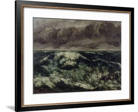 La Vague-Gustave Courbet-Framed Art Print