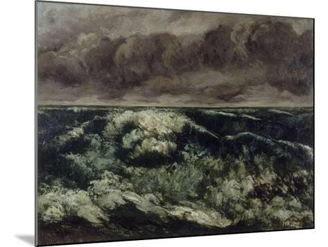 La Vague-Gustave Courbet-Mounted Giclee Print