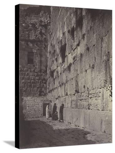 Wailing Place of Jérusalem-James Robertson-Stretched Canvas Print
