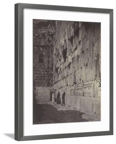 Wailing Place of Jérusalem-James Robertson-Framed Art Print