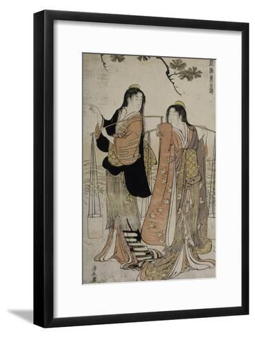 Femmes des marais salants-Torii Kiyonaga-Framed Art Print