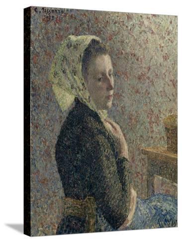 Femme au fichu vert-Camille Pissarro-Stretched Canvas Print