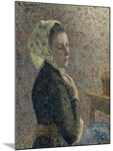 Femme au fichu vert-Camille Pissarro-Mounted Giclee Print