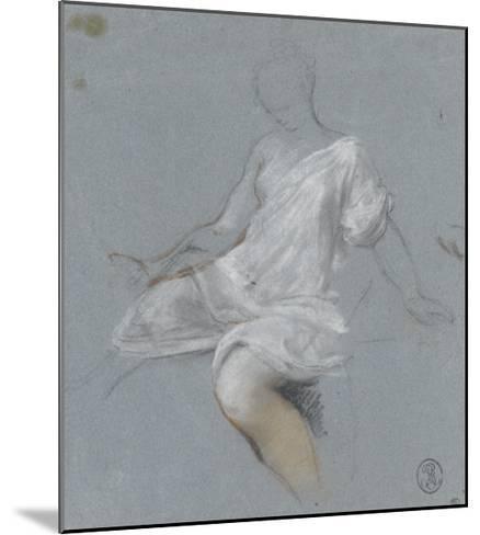 Femme assise, en chemise, tournée vers la gauche-Nicolas Vleughels-Mounted Giclee Print