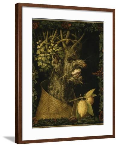 L'Hiver-Giuseppe Arcimboldo-Framed Art Print