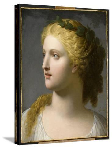 Tête de femme couronnée de laurier-Charles Paul Landon-Stretched Canvas Print