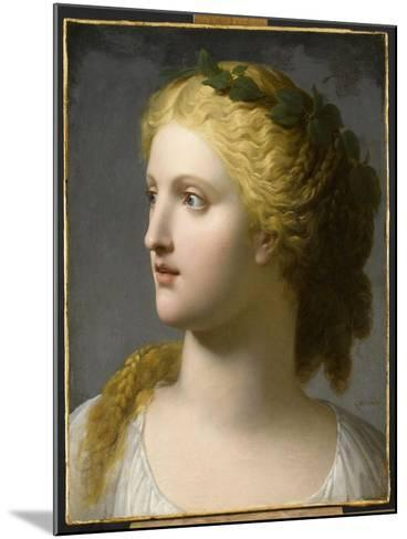 Tête de femme couronnée de laurier-Charles Paul Landon-Mounted Giclee Print