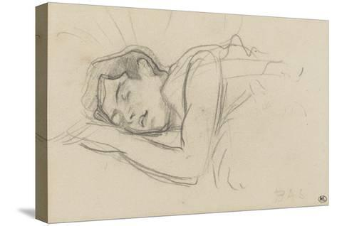 Woman Sleeping, Right Cheek Resting on the Left Hand-Henri de Toulouse-Lautrec-Stretched Canvas Print