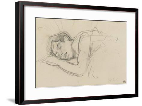 Woman Sleeping, Right Cheek Resting on the Left Hand-Henri de Toulouse-Lautrec-Framed Art Print