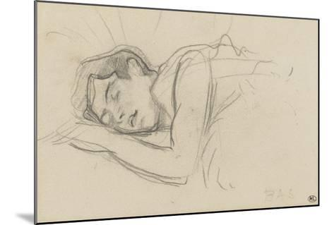 Woman Sleeping, Right Cheek Resting on the Left Hand-Henri de Toulouse-Lautrec-Mounted Giclee Print