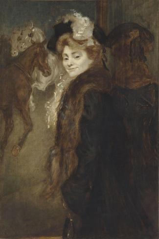 Femme dans le rue-Louis Anquetin-Stretched Canvas Print