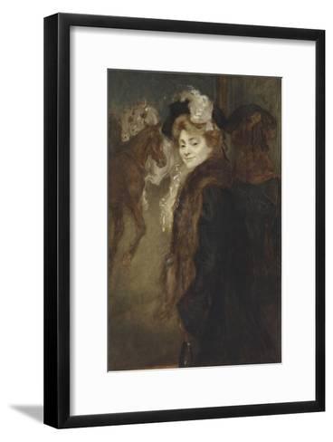 Femme dans le rue-Louis Anquetin-Framed Art Print