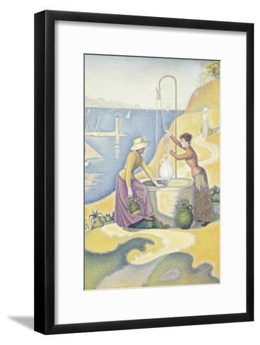 Femmes au puits, ou Jeunes Provençales au puits-Paul Signac-Framed Art Print