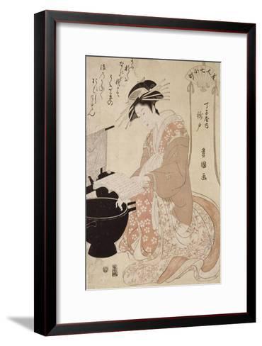 Jeune femme-Utagawa Toyokuni-Framed Art Print