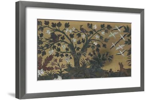 """Bureau-secrétaire à abattant et à gradin amovible dit """"de Diane et Apollon""""--Framed Art Print"""