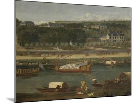 Vue de la Grande Cascade, des parterres et du château de Saint-Cloud prise de la Seine avant 1671-der Meulen Adam Frans Van-Mounted Giclee Print