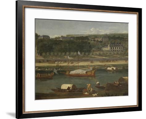 Vue de la Grande Cascade, des parterres et du château de Saint-Cloud prise de la Seine avant 1671-der Meulen Adam Frans Van-Framed Art Print