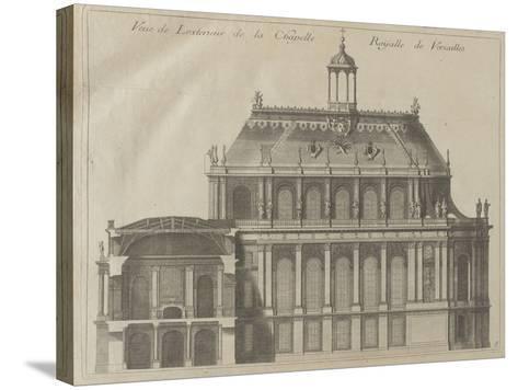 """Recueil des """"Plans, Profils et Elévations du Château de Versailles..."""" : planche 8 : vue de-Pierre Lepautre-Stretched Canvas Print"""