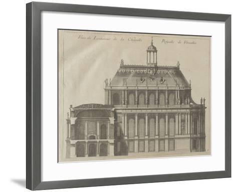 """Recueil des """"Plans, Profils et Elévations du Château de Versailles..."""" : planche 8 : vue de-Pierre Lepautre-Framed Art Print"""