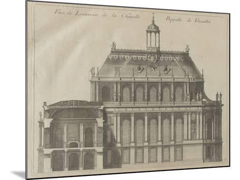 """Recueil des """"Plans, Profils et Elévations du Château de Versailles..."""" : planche 8 : vue de-Pierre Lepautre-Mounted Giclee Print"""