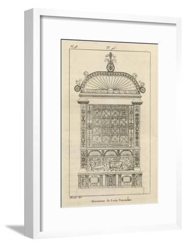 Musée des Monuments Français tome 3, par Alexandre Lenoir: planche 98: tombeau de Louis de-Charles Percier-Framed Art Print