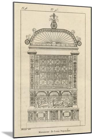 Musée des Monuments Français tome 3, par Alexandre Lenoir: planche 98: tombeau de Louis de-Charles Percier-Mounted Giclee Print