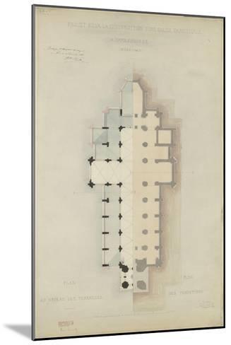 Eglise paroissiale à Napoléonville (Pontivy, Morbihan) : plan au niveau des terrasses, plan des-Marcellin Varcollier-Mounted Giclee Print