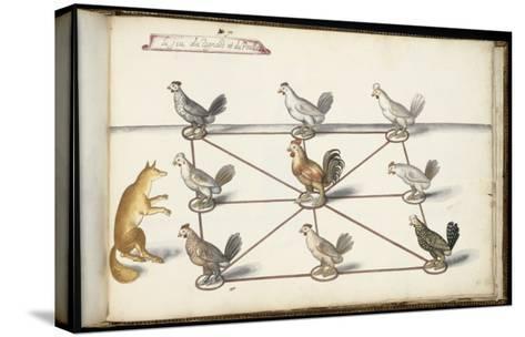 """Album ; Ballet  Fées  Forêts de Saint Germain ; """"Jeu du renard et  pou""""; huit figures-Daniel Rabel-Stretched Canvas Print"""