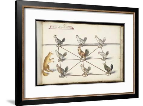 """Album ; Ballet  Fées  Forêts de Saint Germain ; """"Jeu du renard et  pou""""; huit figures-Daniel Rabel-Framed Art Print"""