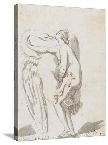 Album : Jupiter et Ganymède d'après Raphaël et son atelier ; Léda et le cyg-Jacques-Louis David-Stretched Canvas Print