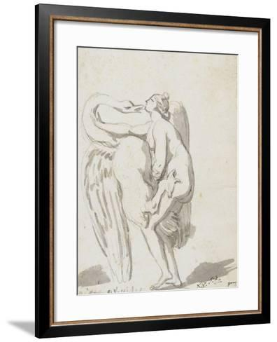 Album : Jupiter et Ganymède d'après Raphaël et son atelier ; Léda et le cyg-Jacques-Louis David-Framed Art Print