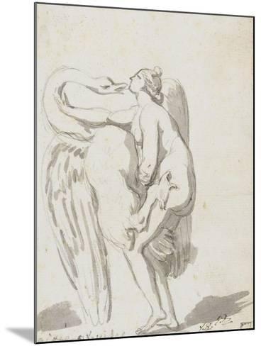 Album : Jupiter et Ganymède d'après Raphaël et son atelier ; Léda et le cyg-Jacques-Louis David-Mounted Giclee Print