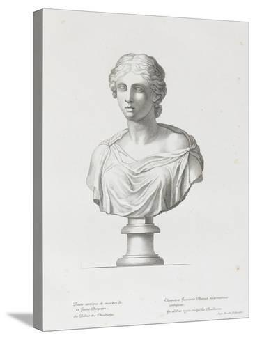 Tableau du Cabinet du Roi, statues et bustes antiques des Maisons Royales Tome II : planche 15-Etienne Baudet-Stretched Canvas Print