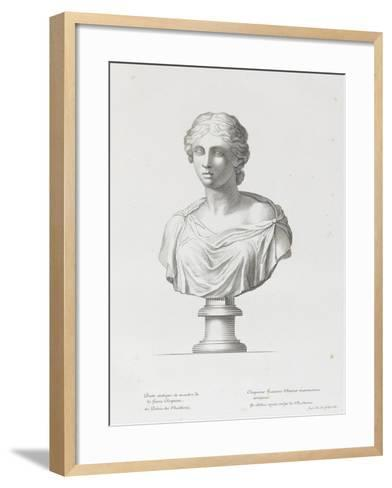 Tableau du Cabinet du Roi, statues et bustes antiques des Maisons Royales Tome II : planche 15-Etienne Baudet-Framed Art Print