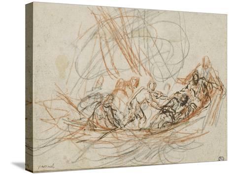 Jésus apaise la tempête ou la vocation de Simon-Pierre et André-Joseph Parrocel-Stretched Canvas Print