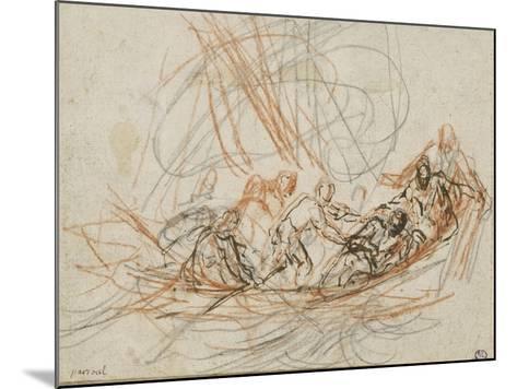 Jésus apaise la tempête ou la vocation de Simon-Pierre et André-Joseph Parrocel-Mounted Giclee Print