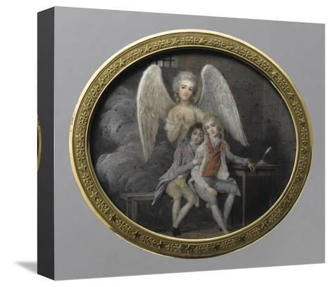 Le duc de Montpensier et le comte de Beaujolais en 1793, détenus pendant la Révolution, à la--Stretched Canvas Print