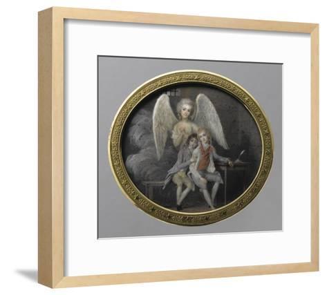 Le duc de Montpensier et le comte de Beaujolais en 1793, détenus pendant la Révolution, à la--Framed Art Print