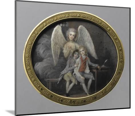Le duc de Montpensier et le comte de Beaujolais en 1793, détenus pendant la Révolution, à la--Mounted Giclee Print