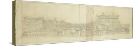 Forum romain et capitole au temps d'Auguste ( essai de restitution )--Stretched Canvas Print
