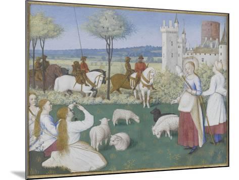 Suffrage des Saints du Livre d'Heures d'Etienne Chevalier : Sainte Marguerite et Olibrius dit-Jean Fouquet-Mounted Giclee Print