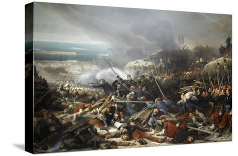 Episode du siège de Sébastopol pendant la guerre de Crimée en 1855, gorge de Malakoff-Adolphe Yvon-Stretched Canvas Print