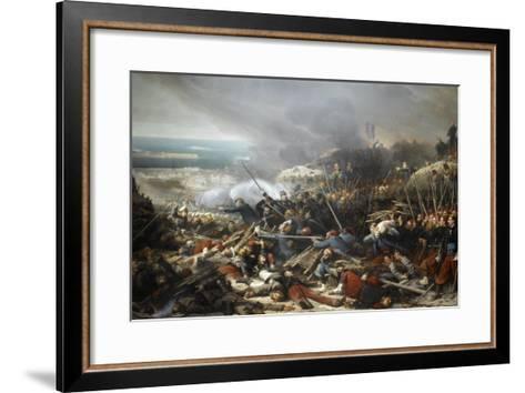 Episode du siège de Sébastopol pendant la guerre de Crimée en 1855, gorge de Malakoff-Adolphe Yvon-Framed Art Print