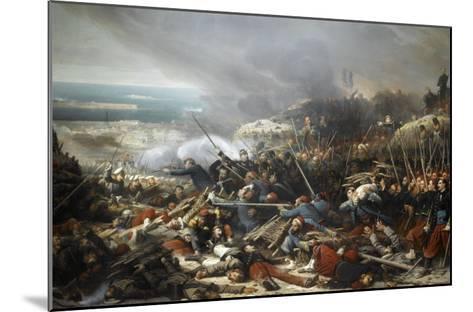 Episode du siège de Sébastopol pendant la guerre de Crimée en 1855, gorge de Malakoff-Adolphe Yvon-Mounted Giclee Print
