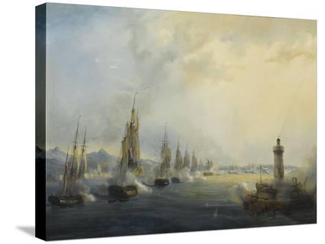 L'escadre française commandée par l'amiral Roussin force l'entrée du Tage devant Lisbonne, 11-Pierre Julien Gilbert-Stretched Canvas Print