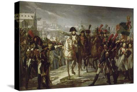 Sur le pont de Lech, à Augsbourg le 12 octobre 1805.-Pierre Gautherot-Stretched Canvas Print